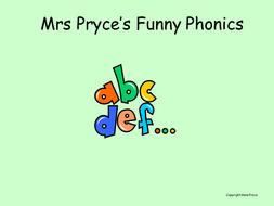 Mrs Pryce's phonics-final ck; and initial e; u; r.