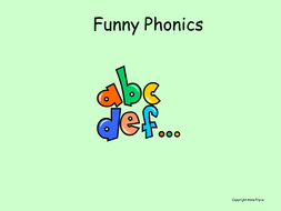 Phonics - h; b; f; l.