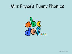 Mrs Pryce's phonics-oo short sound.