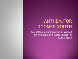 "A presentation on ""Anthem For Doomed Youth"""