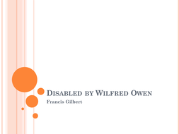 """Disabled"" by Wilfred Owen: explanation/questions"