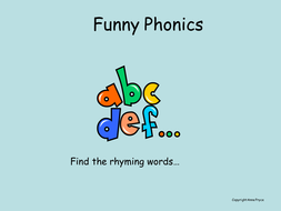 Phonics - graphemes and rhymes