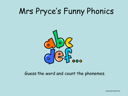 Mrs. Pryce's phonics-ee; ey..