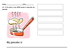 Pancake Day Descriptive Writing