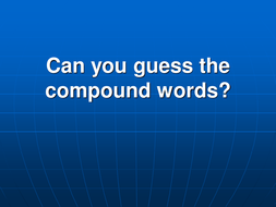 Compound words quiz (easy)