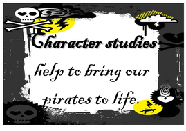 Display material for pirate adventures