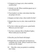 Different tasks to get students writing