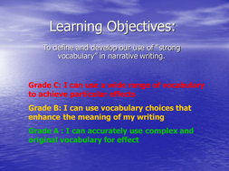 Narrative Writing: Strong Vocabulary