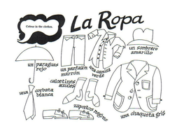 La ropa (Describing Clothes in Spanish) by mmullen