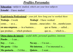 Writing Resume In Spanish