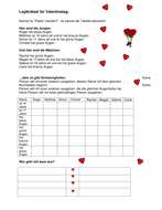 German logic puzzle for Valentine's day