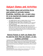 Games to play in class (suitable for all subjects)