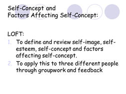 factors affecting self concept
