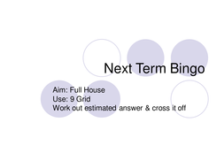 next term Bingo.ppt