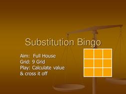 Substitution Bingo.ppt