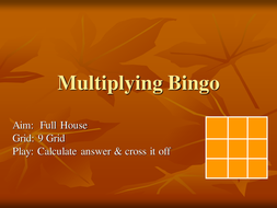 Multiplying Bingo.ppt