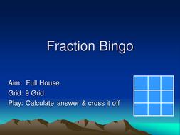Fractions of Bingo.ppt