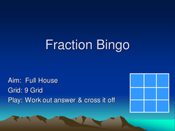 Fraction bingo - shaded parts.ppt
