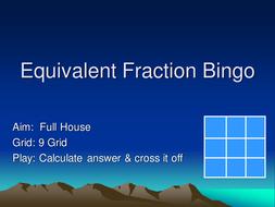 Equivalent Fraction Bingo.ppt