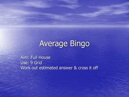 Statistics Bingo