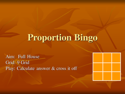 Direct Proportion Bingo.ppt