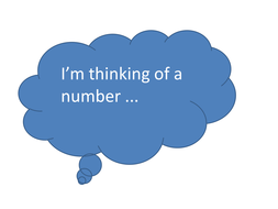 I'm thinking of a number...