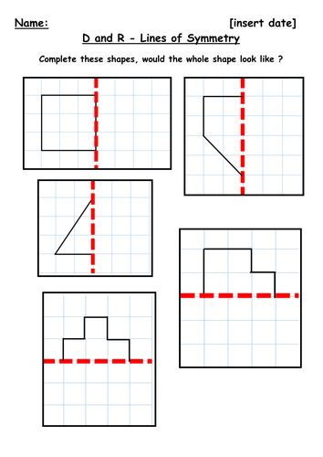 symmetry along a mirror line by kbarker86 us teacher lessons tes. Black Bedroom Furniture Sets. Home Design Ideas