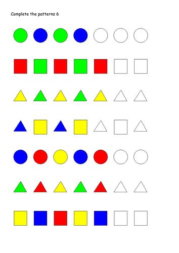 free worksheets pattern worksheets key stage 1 free math worksheets for kidergarten and. Black Bedroom Furniture Sets. Home Design Ideas