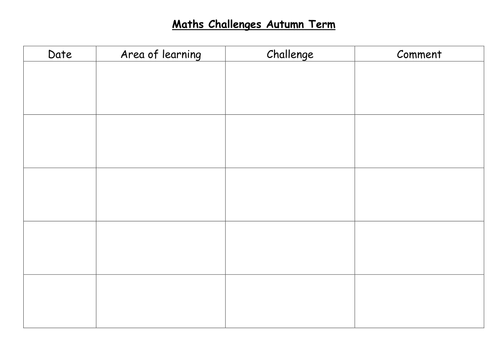Maths challenge for early years by caramel - Teaching Resources - Tes