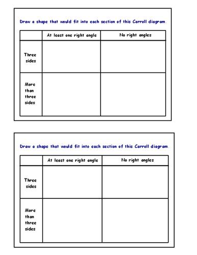 Carroll Diagram Worksheet Ks1 Diagram