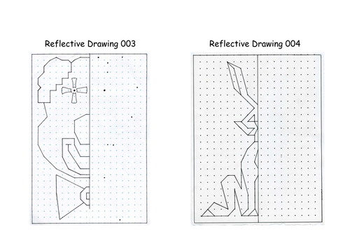 Reflective Drawing Line of symmetry Reflection by PRT1960 – Reflection Worksheet