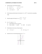 Composite & Inverse Function Worksheet