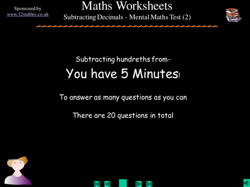 Subtracting Decimals: 2 Decimal Places by SQUIDLEY - Teaching ...