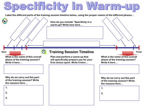 Training Types Principles Worksheets 1 by AndyPilbury Teaching – Fitt Principle Worksheet