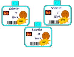 scientist i d badge scientist at work by michelle larkin