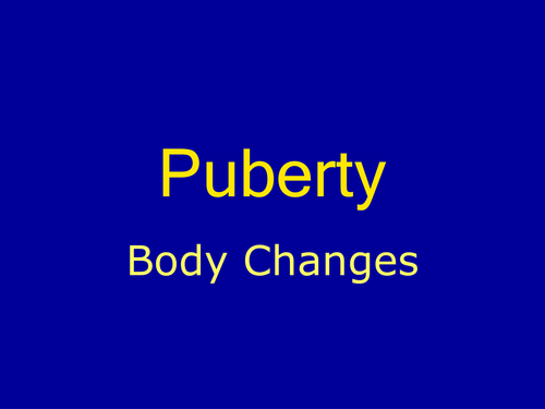puberty powerpoint presentation