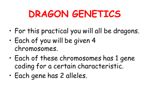 ReproductionInheritance Dragon Genetics Activity by disraelicat – Dragon Genetics Worksheet