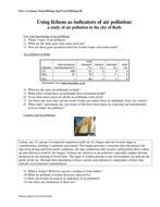 Lichens-Pollution Indicator Species