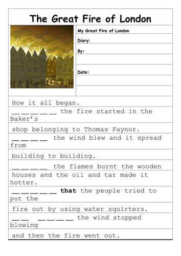 History Great Fire Of London Resources By Julsgate Teaching