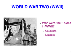 Leaders and countries involved in World War II