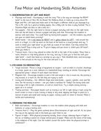 Fine Motor and Handwriting Development Activities