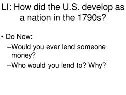 Washington and Adams Administration