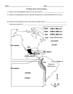Aztec-Inca-Maya Map