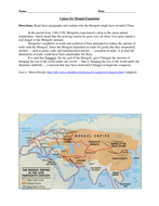 Genghis Khan and Mongol Conquest/Geography