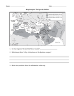 Spread of Islam Map and Questions