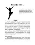 history of jazz dance hw by kristintillotson teaching resources tes. Black Bedroom Furniture Sets. Home Design Ideas