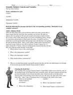 Derivative Worksheet Pdf Controls And Variables Worksheets By Teachinsci  Teaching  Scouting Heritage Merit Badge Worksheet with Worksheets On Prepositions For Grade 4 Scientific Method Controls  Variables  Star Wars  Mixed Number And Improper Fraction Worksheet
