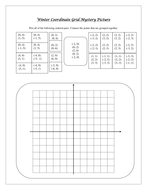 snowflake coordinate grid mystery picture by kmartin456 teaching