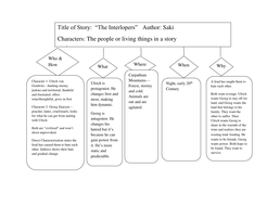 Short Story Literary Analysis Graphic Organizers By Kgustafson1