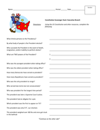 Constitution Scavenger Hunt - Executive Branch by jyoung121 ...